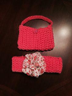 Headband and mini bag for girls
