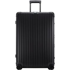 Rimowa North America Topas Stealth 32 Multiwheel featuring polyvore, women's fashion, bags, luggage and stealth