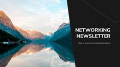 Networking Newsletter Google Slides and PowerPoint Template Slides Powerpoint, Microsoft Powerpoint, Good Cv, Geography Lessons, Math Lesson Plans, Project Proposal, Music App, Slide Design, Business Networking