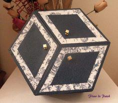 Cartonnage - Boite Hexagonale 3 couvercles