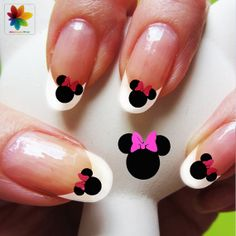 Minnie nail Disney nail art cartoon nail art by Nailsgraphicworld, $6.90