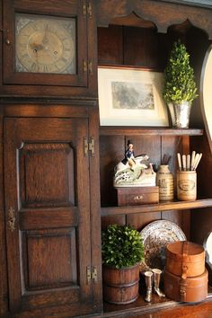 The Polohouse: Kitchen Hutch - Love her use of equestrian-themed items and greenery.