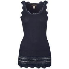 387e00d573 Rosemunde Wide Lace Silk Blend Vest - Blueberry ( 82) found on Polyvore