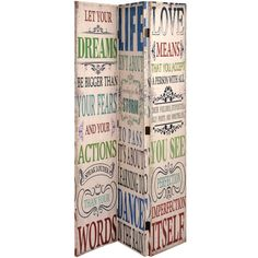 This Lovely Vintage Style - Dream, Life, Love Canvas Screen will make a wonderful Focal Point & Stunning Room Divider!