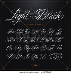 Handwritten Calligraphy Quote Font Letters White Stock Vector (Royalty Free) 332259350 - Hand drawn vector calligraphy tattoo alphabet with numbers You are in the right place about Handwri - Chest Tattoo Name, Name Tattoos, Great Tattoos, Calligraphy Tattoo, Calligraphy Handwriting, Calligraphy Quotes, Graffiti Lettering Fonts, Hand Lettering, Graffiti Art