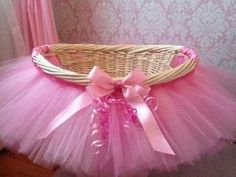 Cute for girl baby shower card basket! by LA CHINIS