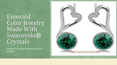 Buy Swarovski Emerald Jewelry Online With Latest Design in India. Buy Now: http://www.glimmering.co.in/swarovski-crystals-emerald-color-stud-earrings-ge067em.html