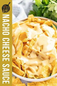 Nacho Cheese Sauce is ridiculously easy to make, and tastes so much better than store bought. Enjoy it as a dip or on a plate of nachos. #nachocheesesauce #appetizer Homemade Nacho Cheese Sauce, Homemade Nachos, Appetizers For A Crowd, Yummy Appetizers, Easy Dinner Recipes, Snack Recipes, Cooking Recipes, Cheese Crisps, Game Day Food