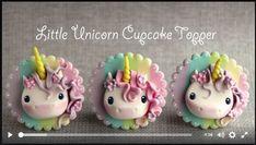 Little Unicorn Cupcake Topper Tutorial! ♥ ♥ ♥ Cause y'all know we love Unicorns around here! Horse Cake Toppers, Unicorn Cupcakes Toppers, Fondant Toppers, Cupcake Day, Cupcake Cakes, Unicorn Themed Cake, Unicorn Cakes, Mary Moon, Unicornio Birthday