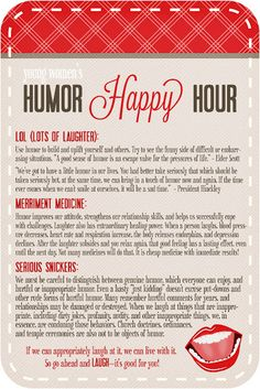 Life.Design. and the Pursuit of Craftiness:  Humor Happy Hour