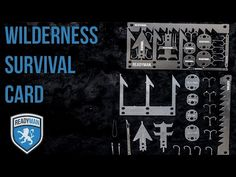 Readyman Wilderness Survival Card Lets You Pop Out Tools As Needed