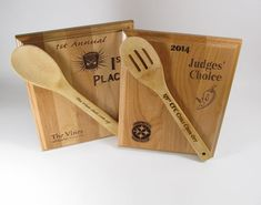 Chili Cook Off 2 Award Plaques Bake Off Wood Plaque