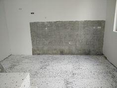 Keittön välitila jää aluksi betonin väriseksi, saa tietysti pintaan lakan suojaksi