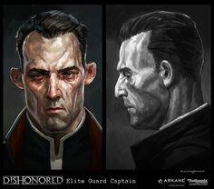 Dishonored-EliteGuardCaptain, Cedric  Peyravernay on ArtStation at https://www.artstation.com/artwork/dishonored-eliteguardcaptain