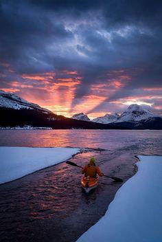 Sunrise paddling (Banff, Alberta) by Paul Zizka on 500px