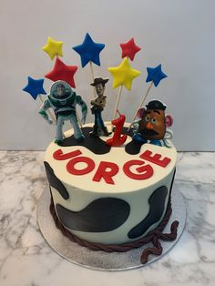 Tarta buttercream Toy Story. Toy Story, Birthday Cake, Cupcakes, Toys, Desserts, Fondant Cakes, Lolly Cake, Candy Stations, One Year Birthday