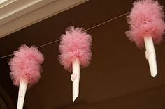 Cotton candy garland DIY http://craftsnob.com/2011/01/make-cotton-candy-garland/
