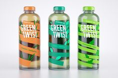Herbal tea GREEN TWIST packing on Behance