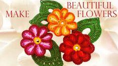 Como tejer fácil y rápido las mas hermosas flores - Make knitting very n...
