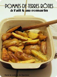 Pommes de terre rôties au four, ail & romarin