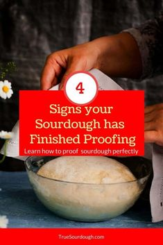 4 Signs Your Sourdough has Finished Proofing – True Sourdough – Sourdough Baking at Home Sourdough Recipes, Sourdough Bread, Bread Recipes, Cooking Recipes, Starter Recipes, Bread Starter, Think Food, Bread Baking, Baking Tips