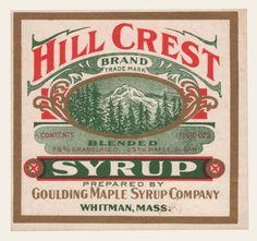 Hill Crest Brand Blended Syrup | OldBrochures.com