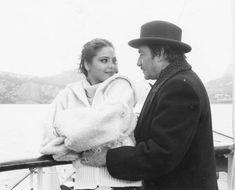 Ugo Tognazzi e Ornella Muti in una scena del film. Primo amore,diretto da Dino Risi - 1978