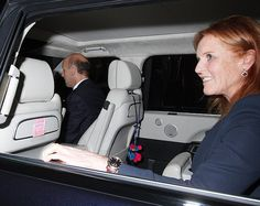 Sarah Ferguson was spotted with the very same 'I love you mummy xx' Post-It note first spotted in her private car a year to the day