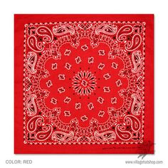 Paisley - Bandana Art - Red - Southwestern Bed Throw Blanket by Walk On Water - x Blanket Biker Bandanas, Women's Bandanas, Cotton Bandanas, Red Bandana, Bandana Print, Southwestern Throws, Paisley, Hat Shop, Hanging Art