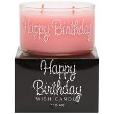 Happy Birthday Hand-Jeweled Wish Candle