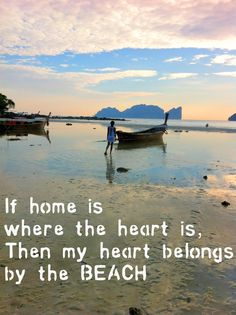 If home is where the heart is, then my heart belongs by the beach, ocean, and sea. Beach Sayings, Sea Quotes, The Sound Of Waves, Heart Place, Beach Images, Summer Things, Beach Scenes, Where The Heart Is, Home And Away