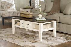 Ashley Whitesburg T583-1 Signature Design Rectangular Cocktail Table -