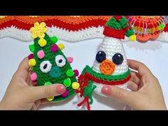Pinitos decorados MUY FACIL A CROCHET - YouTube Christmas Tree, Christmas Things, Christmas Ornaments, Holiday Decor, Ideas, Xmas, Shape, Teal Christmas Tree, Christmas Jewelry