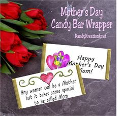 Give your mom some chocolate and a card telling her how special she is this Mother's Day with this free printable candy bar wrapper. This w...