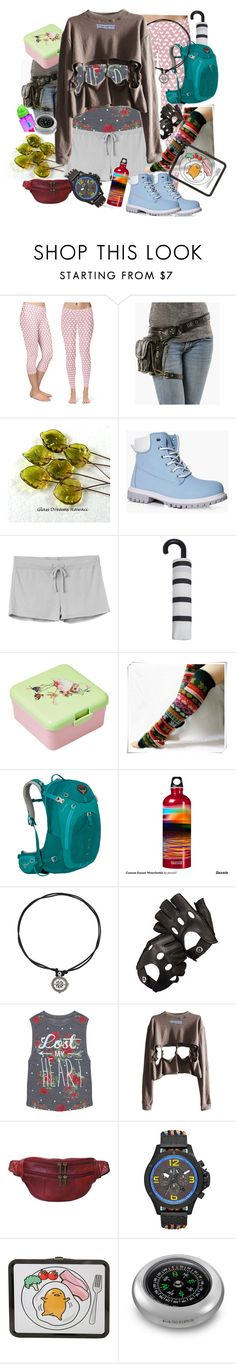 """""""Lost My heart at high Altitude"""" by amanda-anda-panda ❤ liked on Polyvore featuring Disney, Boohoo, RVCA, MANGO, Osprey, SIGG, Aspinal of London, Grayson, AmeriLeather and Armani Exchange"""