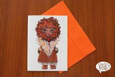 Check out the Leo greeting card on our Etsy shop.