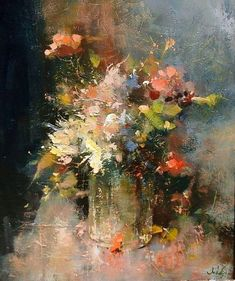 """Acquire wonderful suggestions on """"abstract art paintings acrylics"""". They are offered for you on our site. Oil Painting Flowers, Abstract Flowers, Abstract Art, Still Life Flowers, Still Life Art, Arte Floral, Art Oil, Painting Inspiration, Flower Art"""