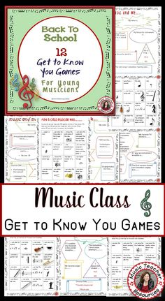 Back to School Ice Breakers for Music Classes   ♫ This is a PDF file containing TWELVE Ice Breaker activities for young musicians!   14 CLICK through to read more or save for later!  ♫