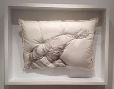 Handmade Pillows Embroidered with Silhouettes by Maryam Ashkanian