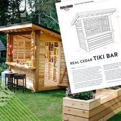 Backyard Plan, Backyard Patio, Backyard Landscaping, Outdoor Tiki Bar, Outdoor Decor, Outdoor Stuff, Backyard Projects, Outdoor Projects, Patio Bar