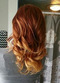 Image result for Ombre Hair Color for natural redheads