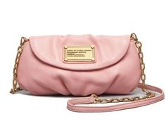 Marc by Marc Jacobs Classic Q Karlie Crossbody Clutch, Apricot Rose - http://handbagscouture.net/brands/marc-by-marc-jacobs/marc-by-marc-jacobs-classic-q-karlie-crossbody-clutch-apricot-rose/