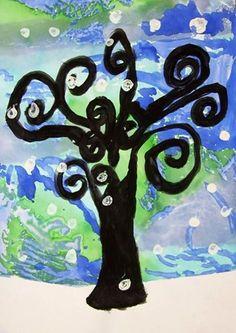 """""""Klimt Winter Trees!"""" Grade 2"""