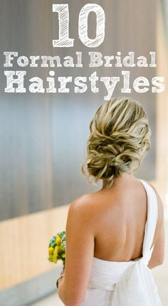 Formal bridal hair. Make your hair as beautiful as your wholesale diamonds! [ 1diamondsource.com ] #hair #diamond #quality