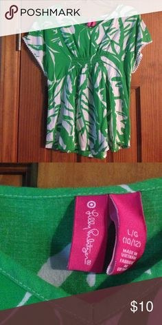 Lilly Pulitzer for Target Boom Boom Tunic This is an adorable Lilly Pulitzer for Target top for girls in good condition. It's a girls size large 10/12 but will fit a woman size XS. Lilly Pulitzer for Target Shirts & Tops