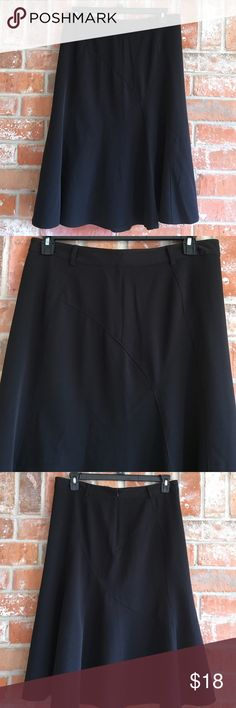"""Classy Black Skirt By East5th Plus Size 14 This skirt is so pretty and in great condition. No snags, rips stains or tears. It measures 17"""" side to side at top of waist and is 29"""" long. I love the fullness at the bottom of this skirt💜💜 East 5th Skirts Midi"""