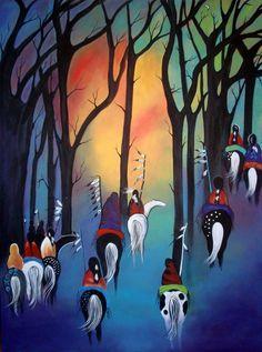 by Jan Oliver-Schultz Native American Paintings, Native American Artists, Native American Indians, Western Saloon, Western Art, Native Indian, Native Art, Kunst Der Aborigines, Southwest Art
