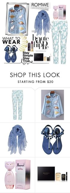 """""""romwe"""" by amnaq ❤ liked on Polyvore featuring Haute Hippie, Miu Miu, WithChic, Humble Chic, Chanel, Gucci and Urban Decay"""