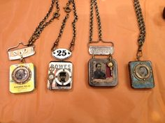 Junk and Jewels - Jen Crossley Old fuse boxes.I never would have thought of that! Punk Jewelry, Boho Jewelry, Pendant Jewelry, Jewelry Crafts, Jewelry Art, Vintage Jewelry, Jewelry Design, Jewellery, Artisan Jewelry