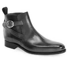 Handmade Men Black jodhpurs ankle boot, New Men Black ankle formal casual boot - Boots